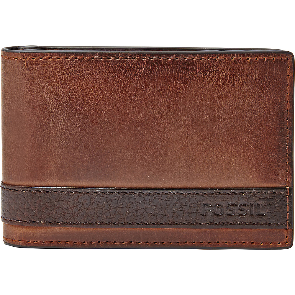 Fossil Quinn Money Clip Bifold Brown - Fossil Mens Wallets - Work Bags & Briefcases, Men's Wallets