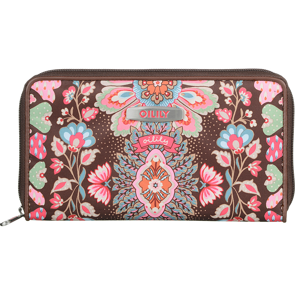 Oilily Travel Organizer Wallet Brown - Oilily Women's Wallets