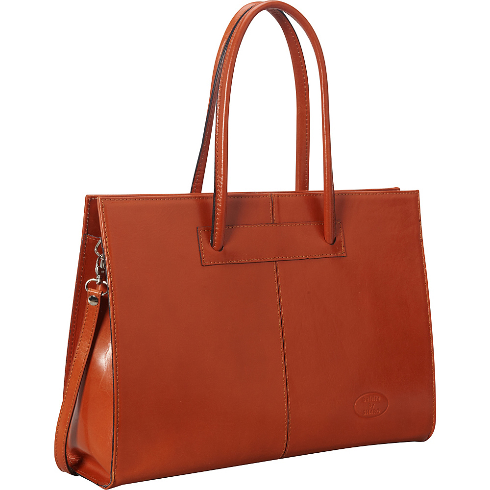 Sharo Leather Bags Women s Genuine Leather Laptop Tote Apricot Sharo Leather Bags Women s Business Bags