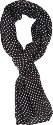 Keds Long Poly Print Scarf Black Classic Dot - Keds Scarves