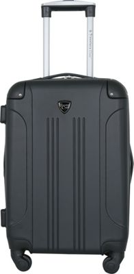 Travelers Club Luggage Chicago 20 inch Hardside Exp. Spinner Carry-On Black - Travelers Club Luggage Hardside Carry-On