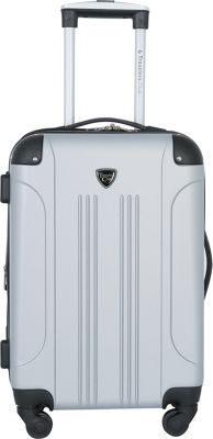 Travelers Club Luggage Chicago 20 inch Hardside Exp. Spinner Carry-On Silver/Grey - Travelers Club Luggage Hardside Carry-On