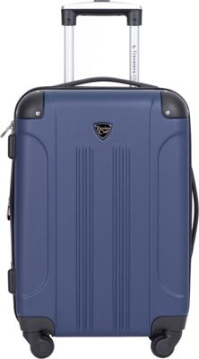 Travelers Club Luggage Chicago 20 inch Hardside Exp. Spinner Carry-On Royal Blue - Travelers Club Luggage Kids' Luggage