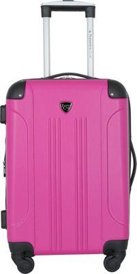 Travelers Club Luggage Chicago 20 inch Hardside Exp. Spinner Carry-On Pink - Travelers Club Luggage Kids' Luggage