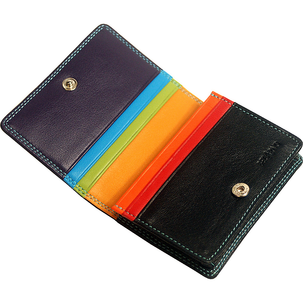 Belarno leather gusset card case with id window 2 colors for 2 id window wallet