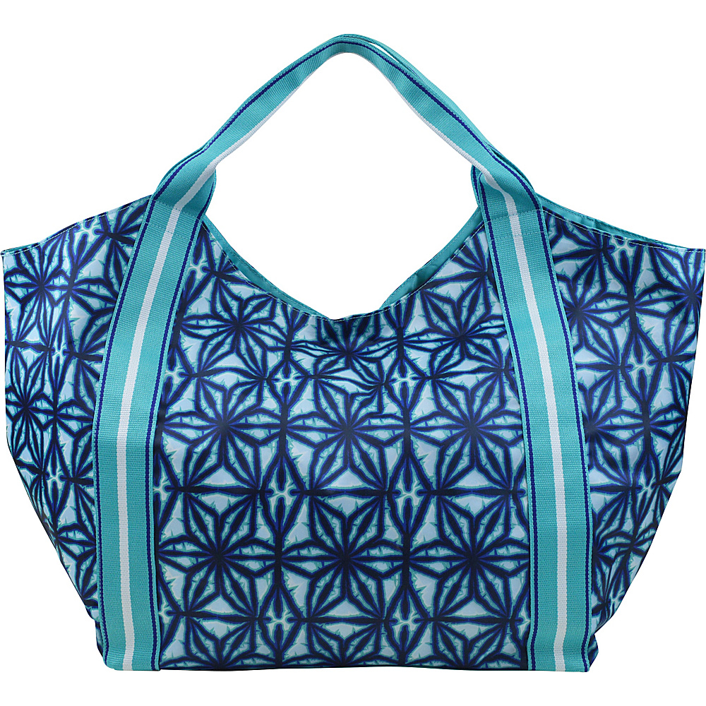 All For Color Beach Tote Indigo Batik - All For Color Fabric Handbags