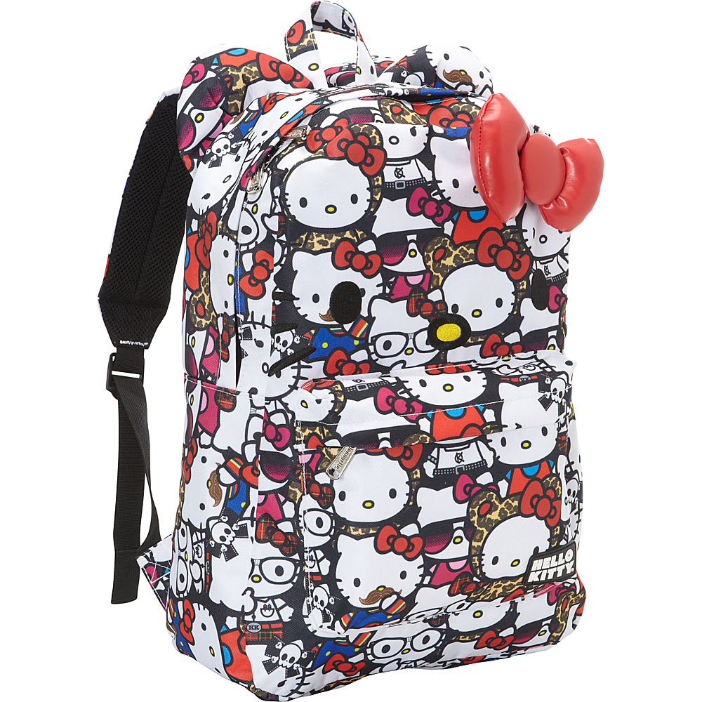 Loungefly Hello Kitty All Stars Print Face Backpack w/ Bow
