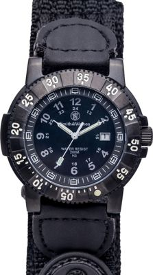 Smith & Wesson Watches Tactical Tritium H3 Watch with Nylon Strap Black - Smith & Wesson Watches Watches