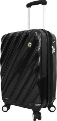 Mia Toro ITALY Onda Fusion Hardside 20 inch Spinner Carry-On Black - Mia Toro ITALY Hardside Carry-On