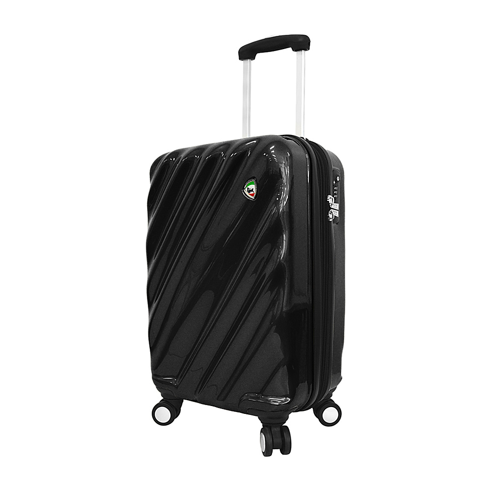 Mia Toro ITALY Onda Fusion Hardside 20 Spinner Carry On Black Mia Toro ITALY Hardside Carry On