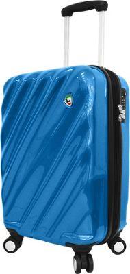 Mia Toro ITALY Onda Fusion Hardside 20 inch Spinner Carry-On Blue - Mia Toro ITALY Hardside Carry-On