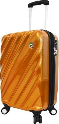 Mia Toro ITALY Onda Fusion Hardside 20 inch Spinner Carry-On Orange - Mia Toro ITALY Hardside Carry-On