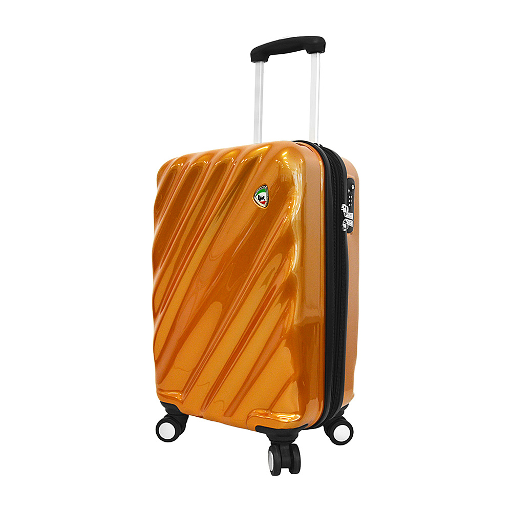 Mia Toro ITALY Onda Fusion Hardside 20 Spinner Carry On Orange Mia Toro ITALY Hardside Carry On