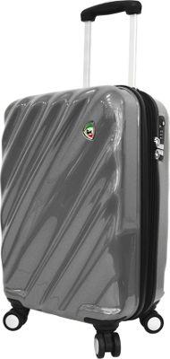 Mia Toro ITALY Onda Fusion Hardside 20 inch Spinner Carry-On Grey - Mia Toro ITALY Hardside Carry-On