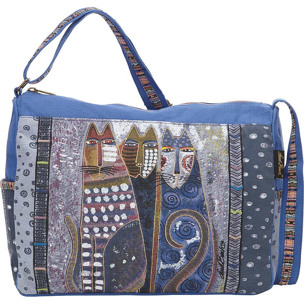 Laurel Burch Autumn Felines Medium Shoulder Bag Multi Laurel Burch Fabric Handbags