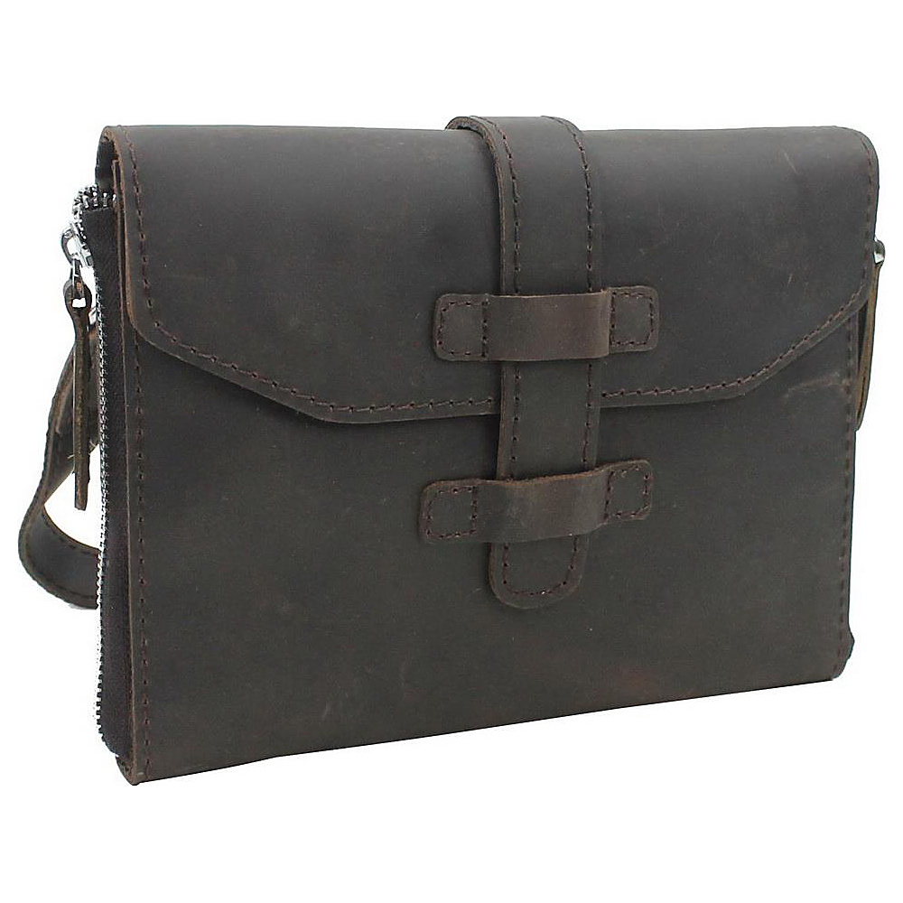 Vagabond Traveler 9 Leather iPad mini Shoulder Bag Dark Brown - Vagabond Traveler Electronic Cases - Technology, Electronic Cases