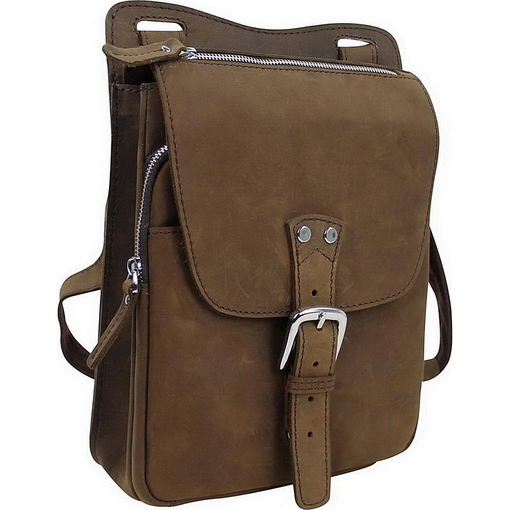 Vagabond Traveler 12.5 Leather Vertical Messenger Bag Distress - Vagabond Traveler Messenger Bags - Work Bags & Briefcases, Messenger Bags