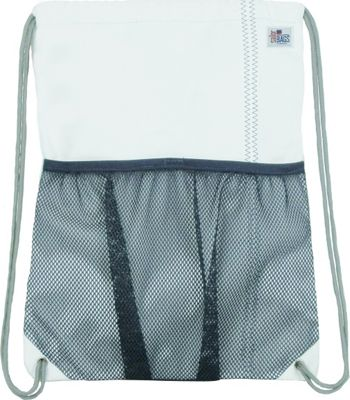 SailorBags Drawstring Bag White/Blue - SailorBags Everyday Backpacks