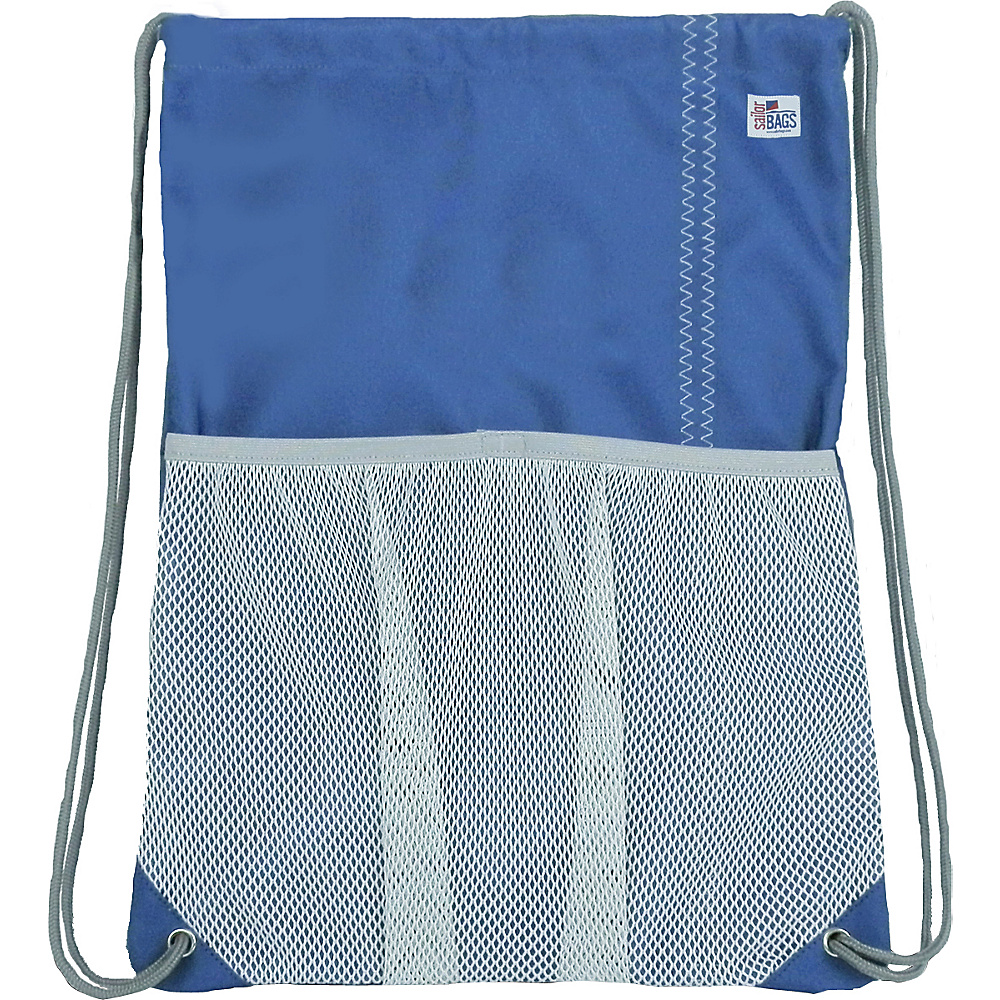 SailorBags Drawstring Bag Blue Grey SailorBags Everyday Backpacks