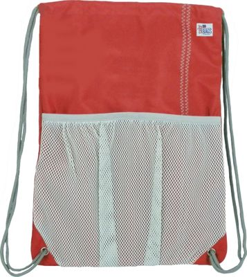 SailorBags Drawstring Bag Red/Grey - SailorBags Everyday Backpacks
