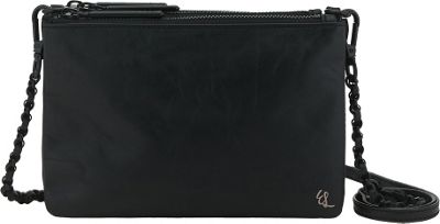 Elliott Lucca Sasha Triple Compartment Clutch Black - Elliott Lucca Designer Handbags