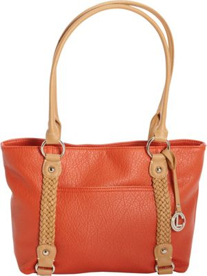 Aurielle-Carryland Braided Pebble Tote Poppy - Aurielle-Carryland Manmade Handbags