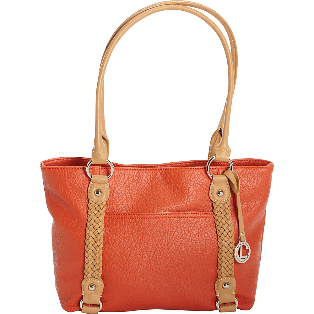 Aurielle Carryland Braided Pebble Tote Poppy Aurielle Carryland Manmade Handbags