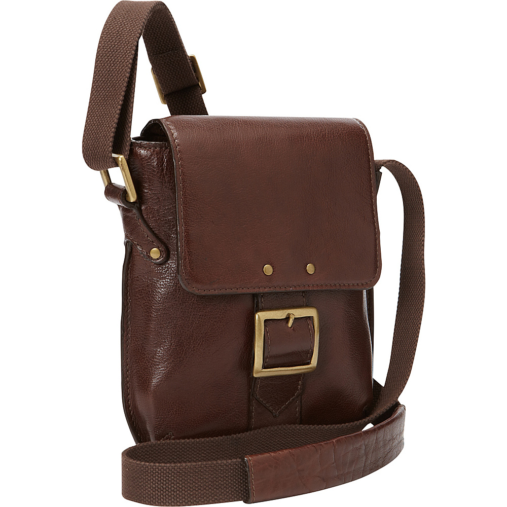 Hidesign Vespucci Small Vertical Crossbody Brown Hidesign Messenger Bags