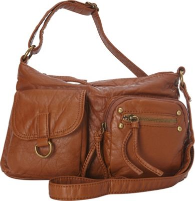 Ampere Creations The Becca Crossbody Light Brown - Ampere Creations Manmade Handbags