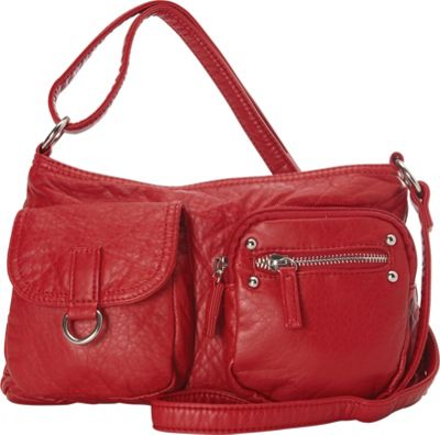 Ampere Creations Ampere Creations The Becca Crossbody Red - Ampere Creations Manmade Handbags