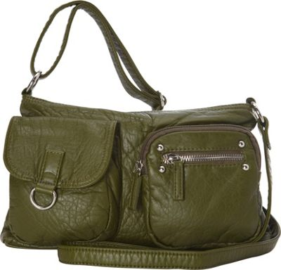 Ampere Creations The Becca Crossbody Army Green - Ampere Creations Manmade Handbags