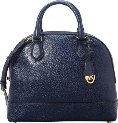 MICHAEL Michael Kors Smythe Large Dome Satchel Navy - MICHAEL Michael Kors Designer Handbags