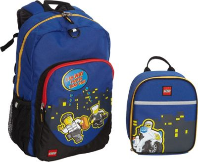 LEGO Police City Nights Backpack & Police City Nights Lunch Bag Blue - LEGO Everyday Backpacks
