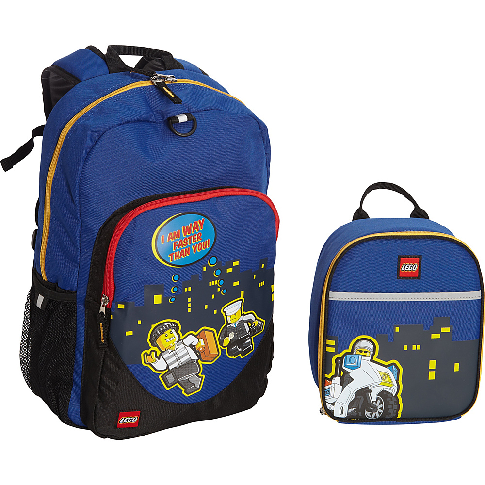 LEGO Police City Nights Backpack Police City Nights Lunch Bag Blue LEGO Everyday Backpacks