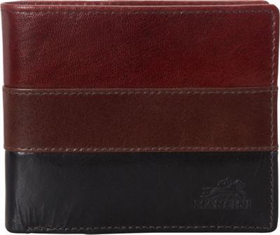 Mancini Leather Goods Mens RFID Center Wing Wallet - eBags Exclusive Multi color - Mancini Leather Goods Mens Wallets