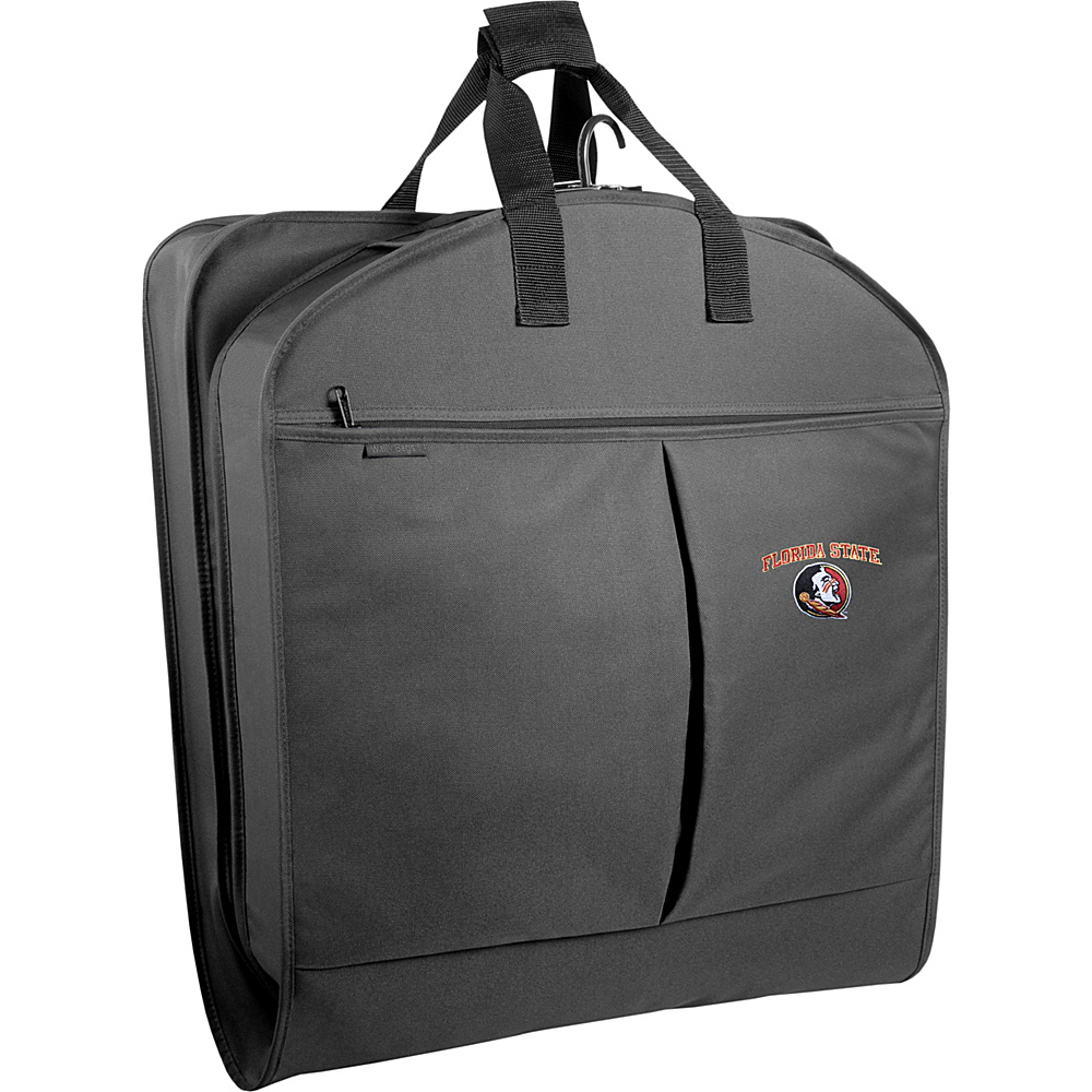 "Wally Bags Florida State Seminoles 40"" Suit Length Garment Bag with Two Pockets Black - Wally Bags Garment Bags"