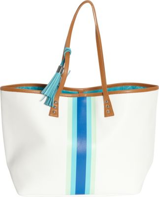 Image of b Luxe Medium London Tote Bora Bora - b Luxe Manmade Handbags