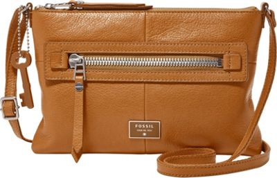 Fossil Dawson Crossbody Camel - Fossil Leather Handbags