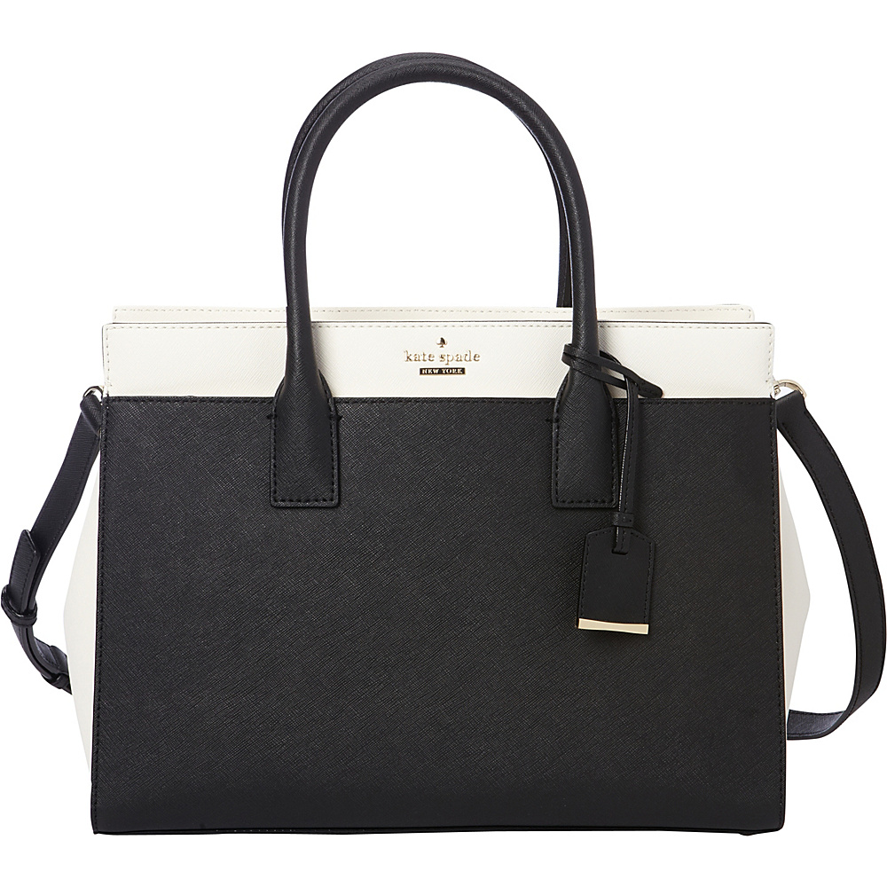 kate spade new york Cameron Street Candace Satchel Black Cement kate spade new york Designer Handbags