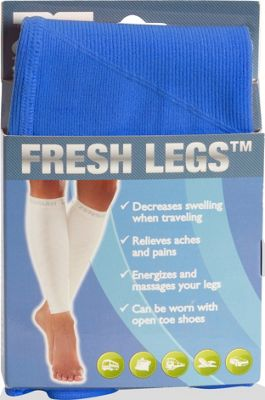 pb travel Zensah Fresh Legs Compression Leg Sleeves- Extra Large Blue - pb travel Legwear/Socks