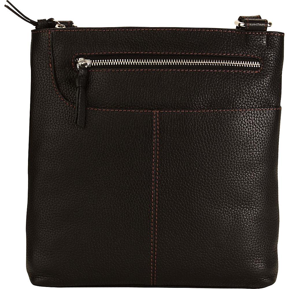 Hadaki Monique Xbody Black - Hadaki Leather Handbags - Handbags, Leather Handbags