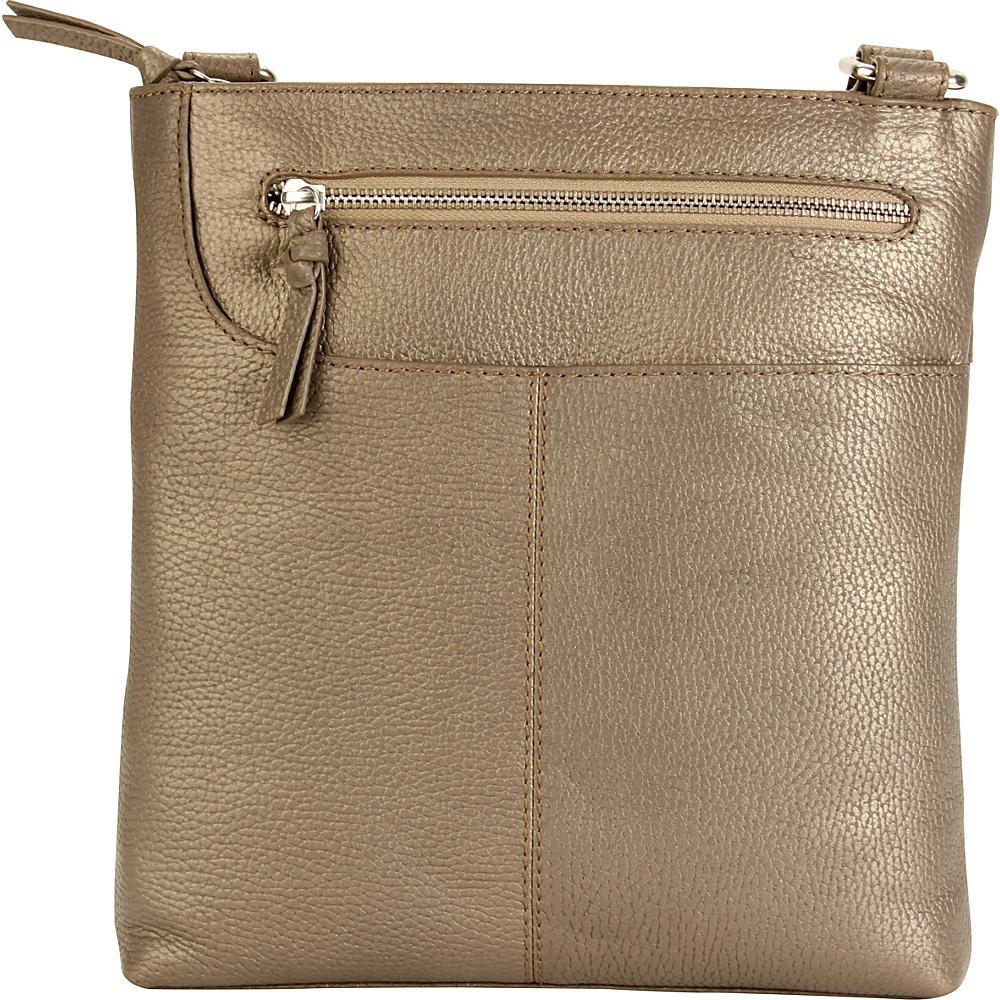 Hadaki Monique Xbody Bronze - Hadaki Leather Handbags - Handbags, Leather Handbags