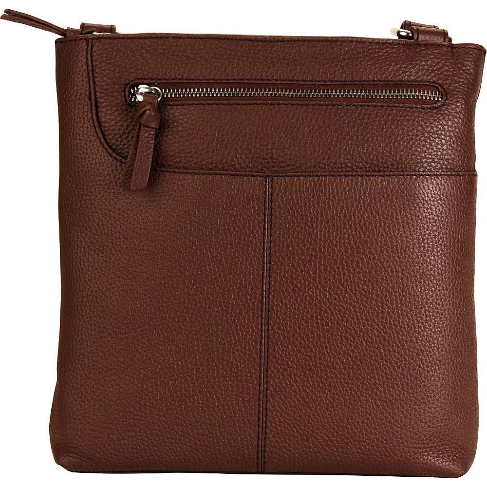 Hadaki Monique Xbody Cognac - Hadaki Leather Handbags - Handbags, Leather Handbags