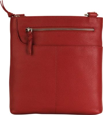 Hadaki Monique Xbody Deep Red - Hadaki Leather Handbags