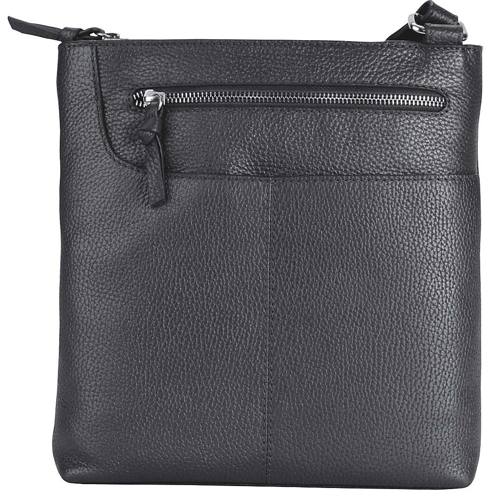 Hadaki Monique Xbody Metallic Blue - Hadaki Leather Handbags - Handbags, Leather Handbags