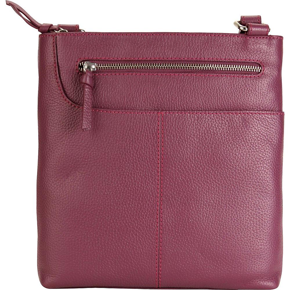 Hadaki Monique Xbody Plum - Hadaki Leather Handbags - Handbags, Leather Handbags