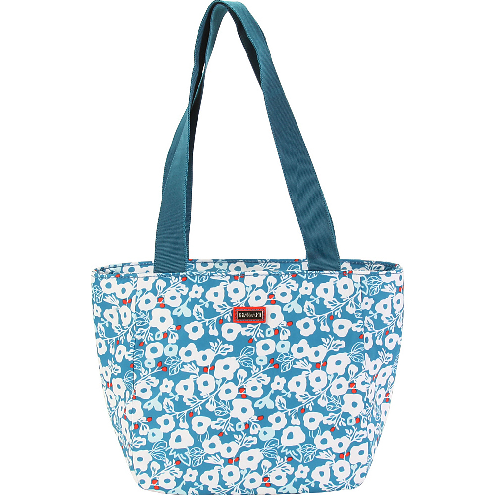 Hadaki Lunch Tote Berry Blossom Teal - Hadaki Travel Coolers - Travel Accessories, Travel Coolers