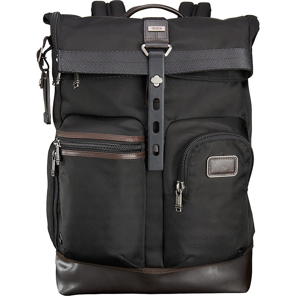 Tumi Alpha Bravo Luke Roll-Top Backpack Hickory - Tumi Business & Laptop Backpacks