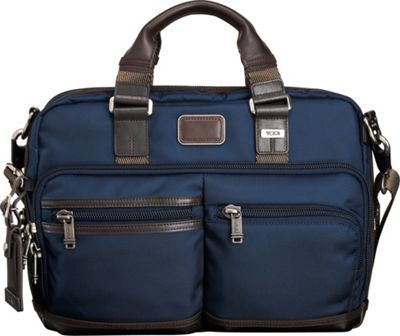 Tumi Alpha Bravo Andersen Slim Commuter Brief Navy - Tumi Non-Wheeled Computer Cases