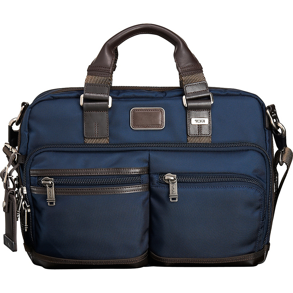 Tumi Alpha Bravo Andersen Slim Commuter Brief Navy Tumi Non Wheeled Business Cases